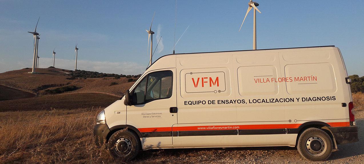 Localización de averías en líneas subterráneas de AT, MT y BT - Villa Flores Martín