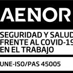 empresa andaluza certificada por AENOR en Seguridad y Salud frente al Covid-19 en el Trabajo